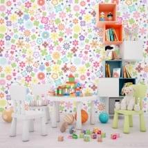 Murales de vinyle fleurs colorées