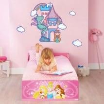 Vinyle et des autocollants pour enfants château et princesse
