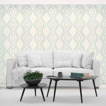 Murales de vinyle lignes de style rétro