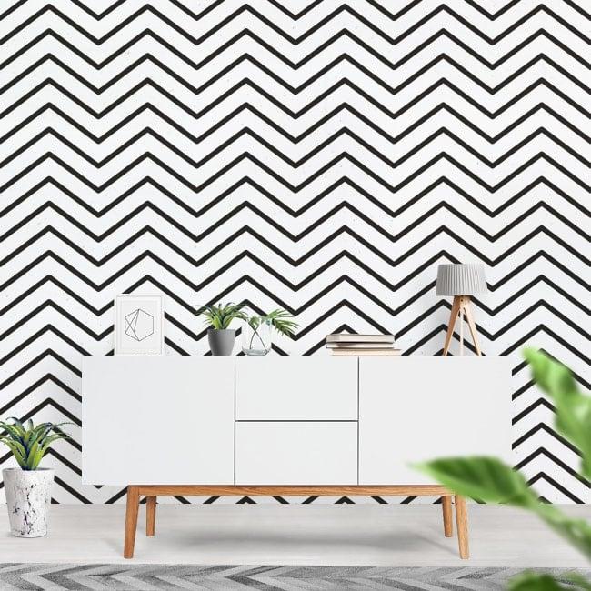 Murales de vinyle lignes ou traits de zigzag