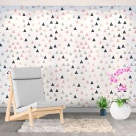 Murales de vinyle triangles colorés