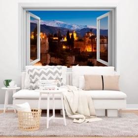 Vinyle décoratif l'alhambra palais nasrides 3d