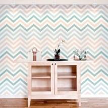 Murales de vinyle adhésif lignes ou traits de zigzag