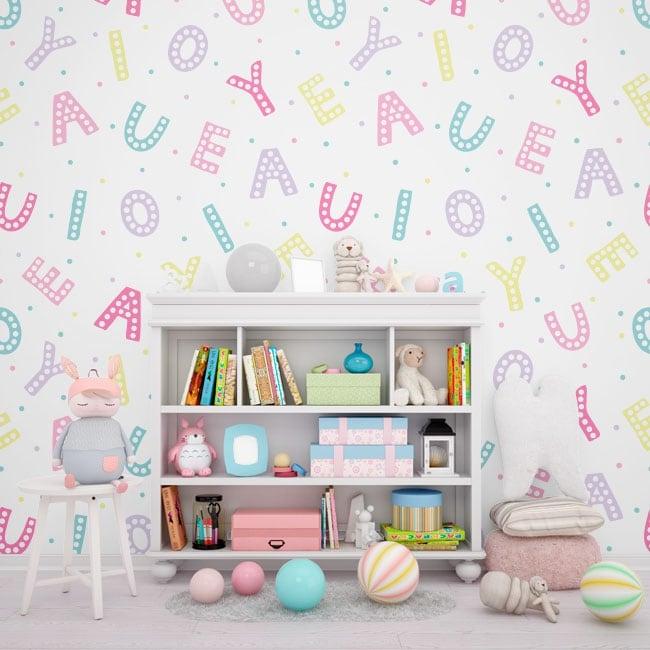 Murales de vinyle adhésif lettres de l'alphabet