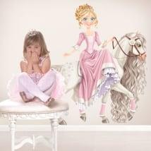 Vinyle décoratif pour enfants princesse et cheval