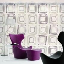 Murales de vinyle adhésif style rétro