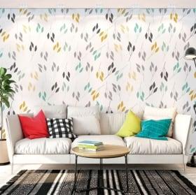 Murales de vinyle avec des feuilles de plantes à décorer