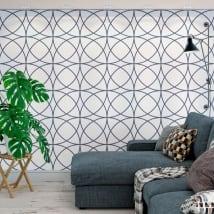 Murales de vinyle adhésif avec des cercles