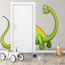 Vinyle décoratif pour enfants dinosaure pour les portes