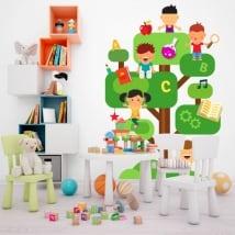Vinyle et autocollants pour enfants l'arbre de la connaissance