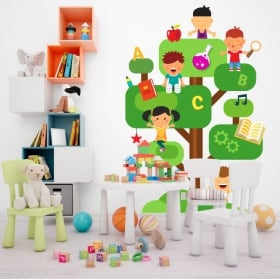 Vinyle décoratif arbres et oiseaux
