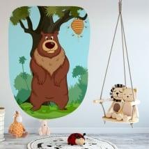 Vinyle décoratif pour enfants ours et abeilles