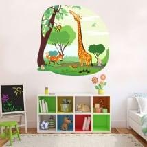Vinyle et autocollants pour enfants animaux de la jungle