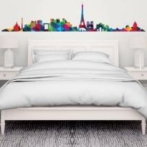 Vinyle décoratif et stickers skyline paris