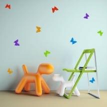 Vinyle décoratif et des autocollants papillons origami