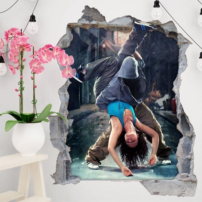 Vinyle décoratif et des autocollants danse urbaine 3d