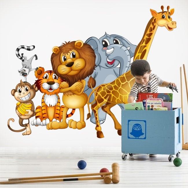 Vinyle décoratif animaux pour enfants ou juvéniles