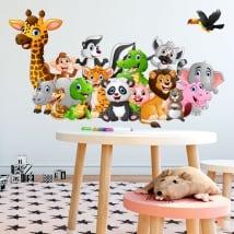 Vinyle et autocollants animaux pour enfants