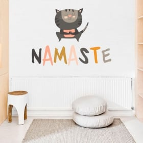 Vinyle décoratif phrases en anglais keep calm yoga