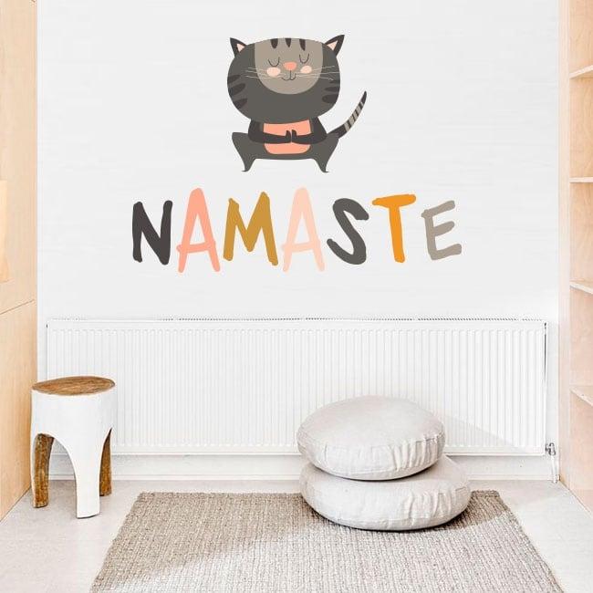 Vinyle décoratif phrases de yoga en anglais namaste