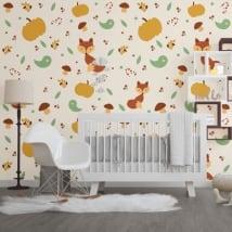 Murales de vinyle animaux pour enfants