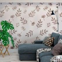 Peintures murales de vinyle décoratif la nature
