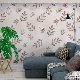 Papiers peints de vinyle décoratif laisse la nature