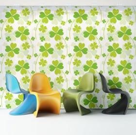 Murales de vinyle murs de fleurs et objets