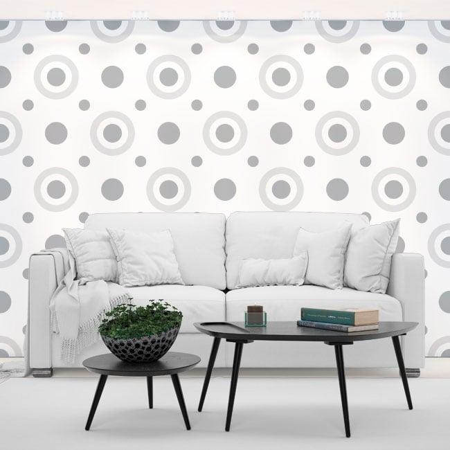 Vinyles les murs cercles de style rétro