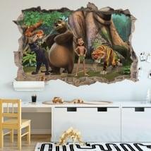 Vinyle mur le livre de la jungle 3d
