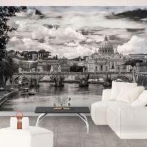 Murales basilique de san pedro vatican rome italie