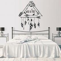 Vinyle mur phrase anglaise décoration de style boho