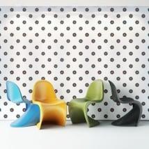 Photos murales de vinyle fleurs colorées