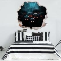 Vinyle les murs zombie apocalypse 3d