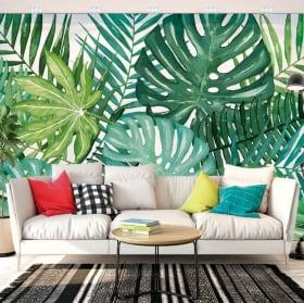 Photos murales vinyles les murs nature tropicale