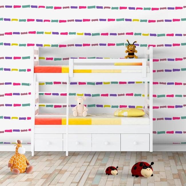 Photomuraux vinyles les murs traits colorés