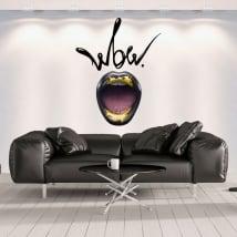 Vinyle décoratif les murs bouche wow