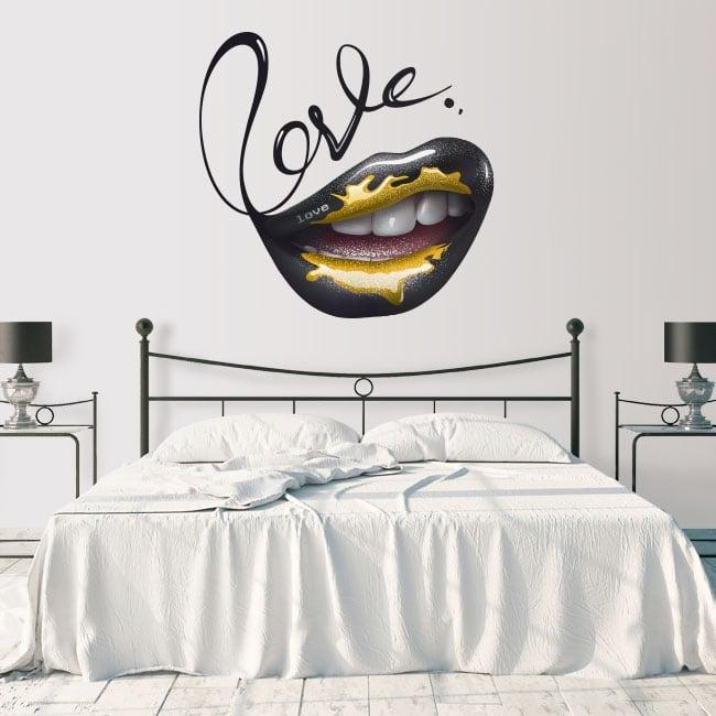 Vinyle les murs bouche amour