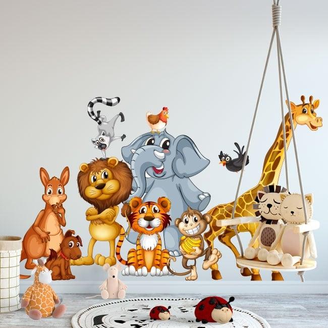 Vinyle les murs les animaux enfants ou jeunes