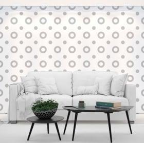 Photomuraux vinyles les murs cercles gris