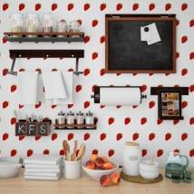 Photomuraux vinyles les murs cuisines fraises