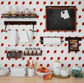 Murales de vinyle fraises à décorer