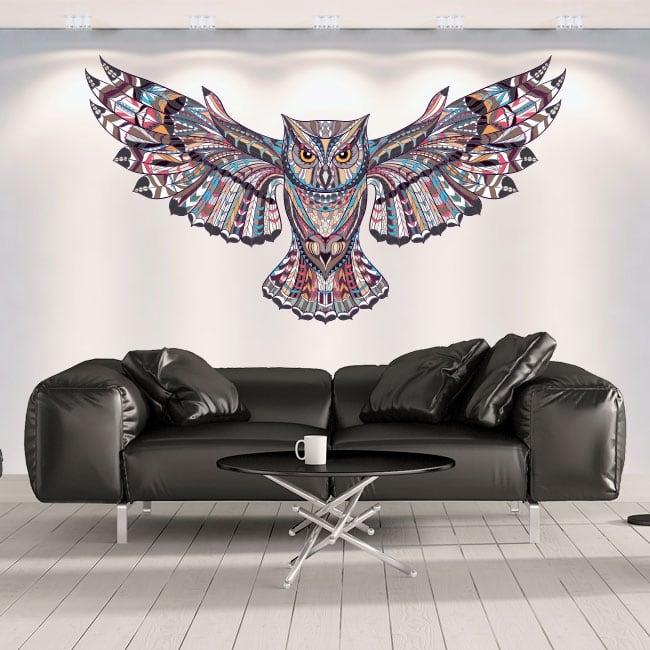 Vinyle décoratif les murs hibou tribal