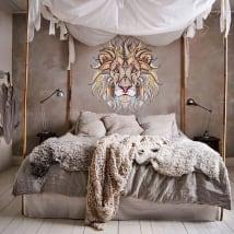Vinyle décoratif murs lion tribal
