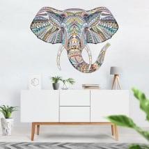 Vinyle décoratif éléphant tribal