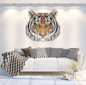 Vinyle les murs tigre tribal