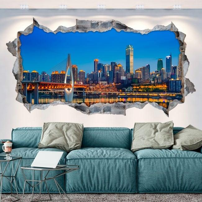 Vinyle les murs chine ville de chongqing 3d