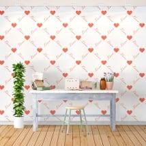Murales romantiques les cœurs amour