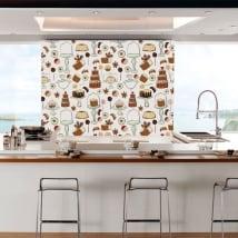 Murales de vinyle pâtisserie pour les magasins et les cuisines