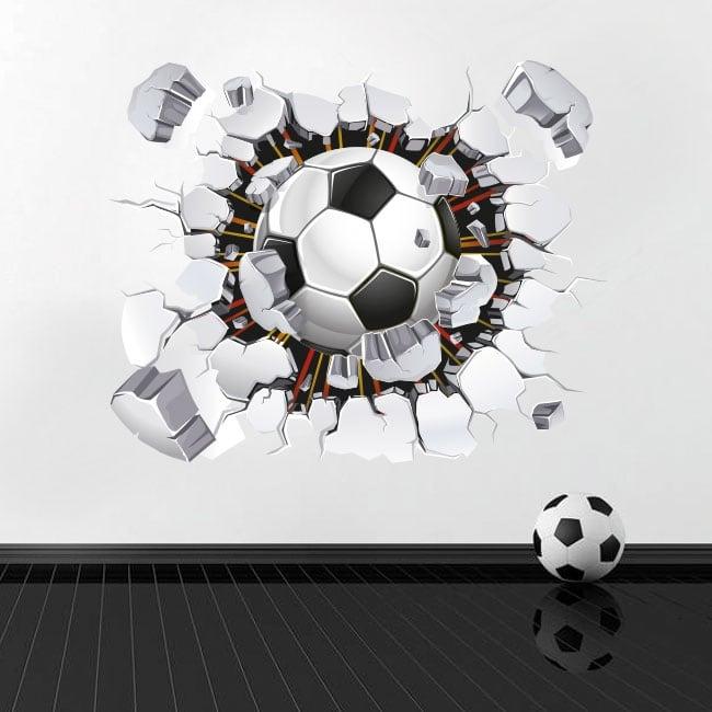 Vinyle et autocollants ballon de football 3d